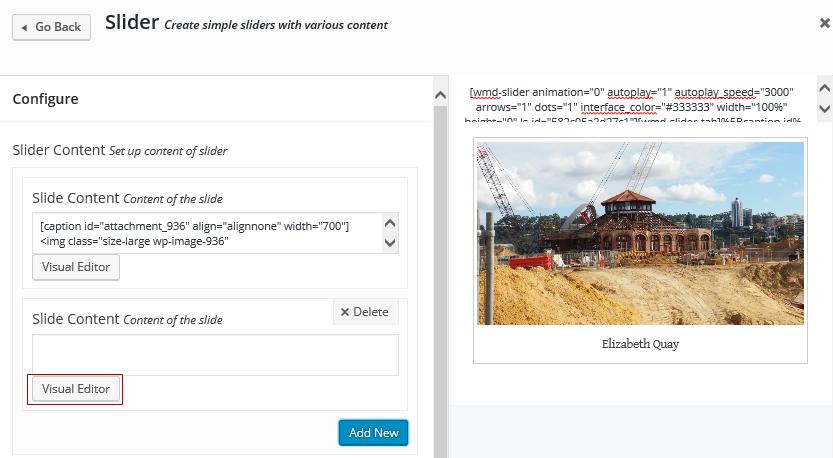 Click on Visual Editor