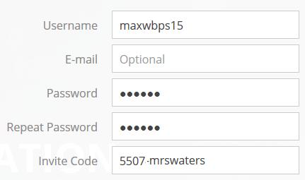 Add invite code