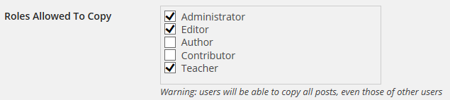 Select Teacher Role