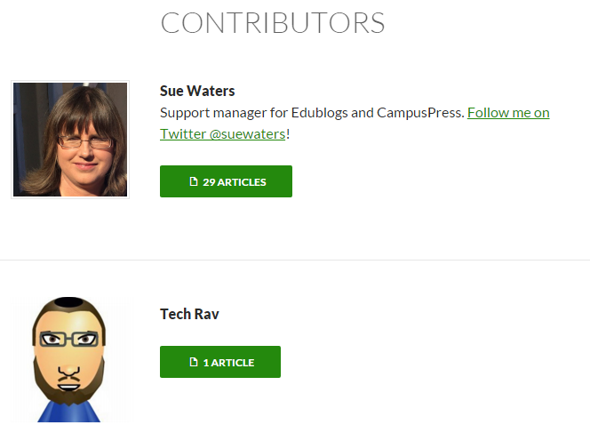 Contributor Template