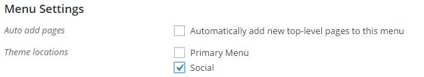 Select Social menu