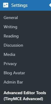 Advanced Editor Tools Settings