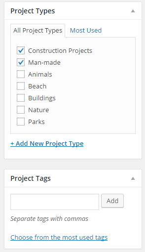 Add Project Types
