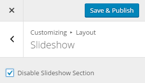 Disable Slideshow