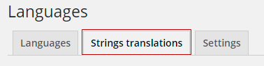 String translation tab