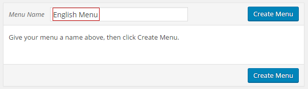 Create English Menu