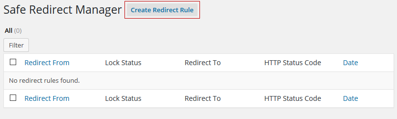 Create Redirect Rule