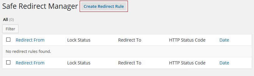 Create Redirect Rule