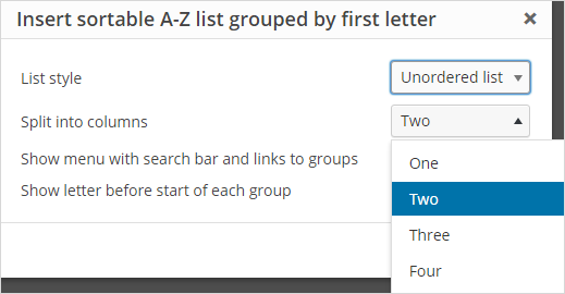 A-Z List plugin – Edublogs Help and Support