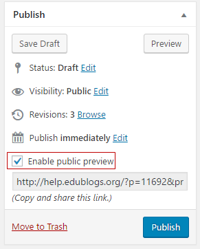 Select Enable public preview