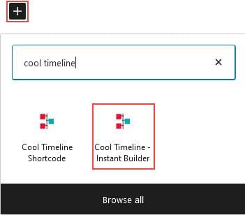 Add Instant Builder block
