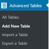Add new table