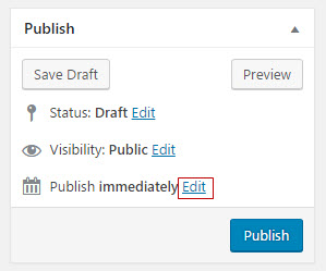 Edit publish date