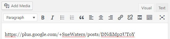 Paste the Google+ URL