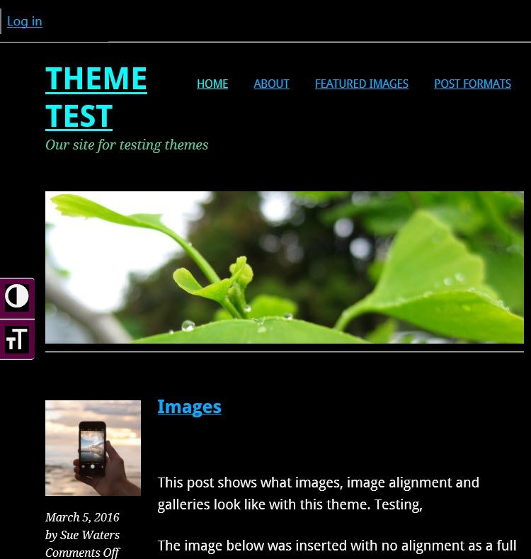 Theme set to High contrast mode