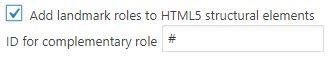 Landmarks in HTML5