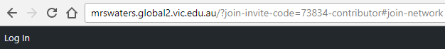 Invite link in browser