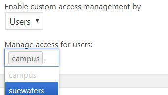 Allow user access