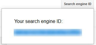 Copy the Search Engine ID