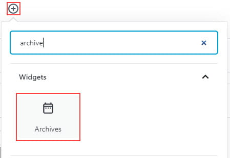 Add Archive Block