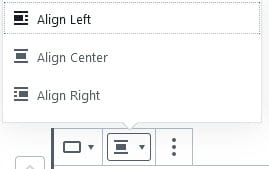 Change alignment of Button block
