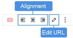 Embed block toolbar