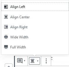 Alignment options