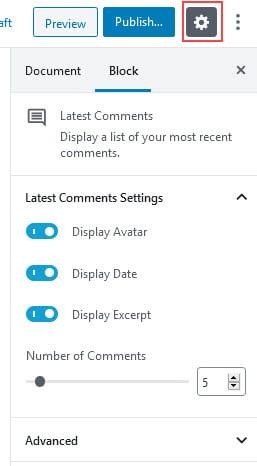 Latest Comments block