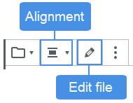 File Block toolbar