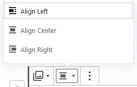 Gallery block alignment