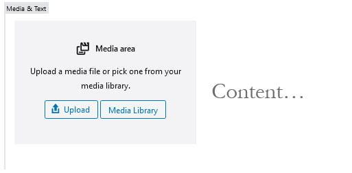 Media & Text Block