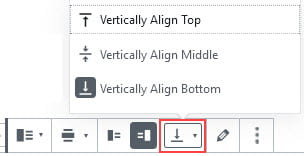 Change vertical alignment