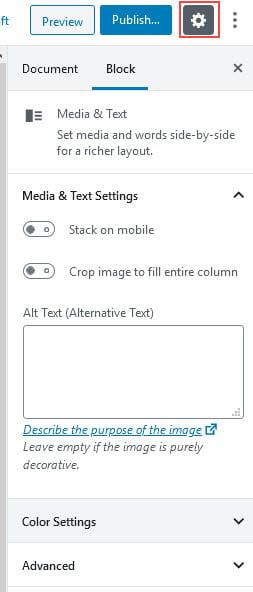 Media Block Settings