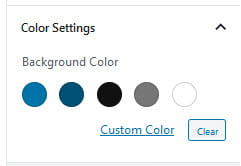 Color settings