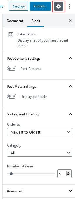Latest Posts Setting