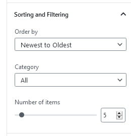 Sort and filtering