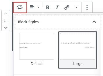 Change block style