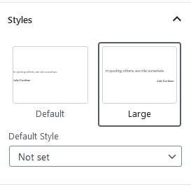 Quote styles