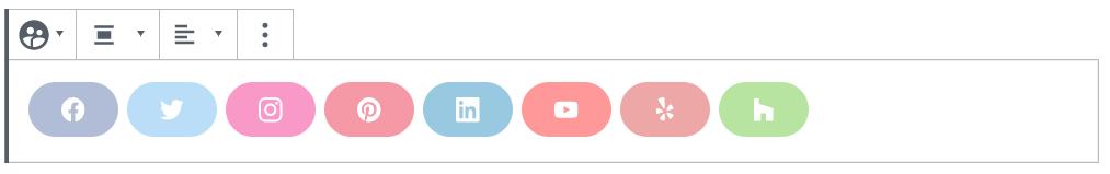 Social Profile icons