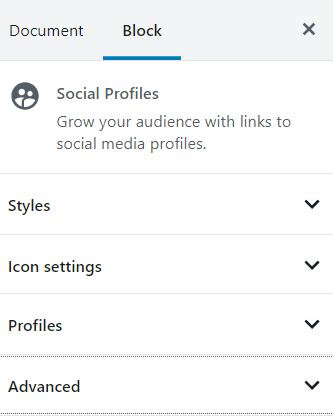 Social Profile block styling