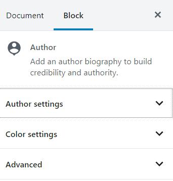Author block styling