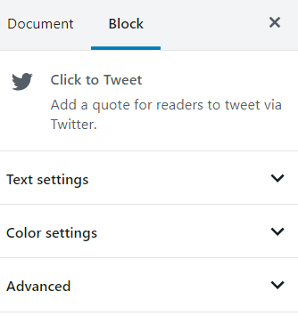click to tweet block styling