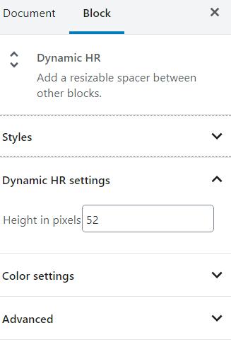 Dynamic HR block styling