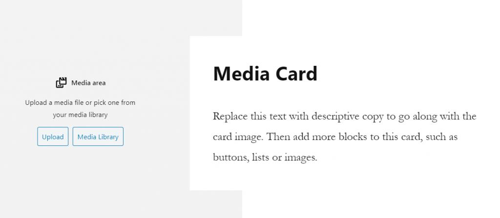 Media card block