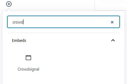 Crowdsignal block