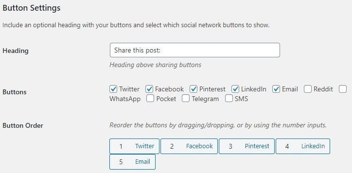 Button Settings