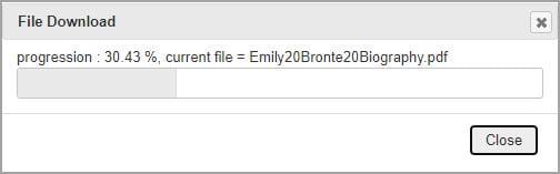 File download progress