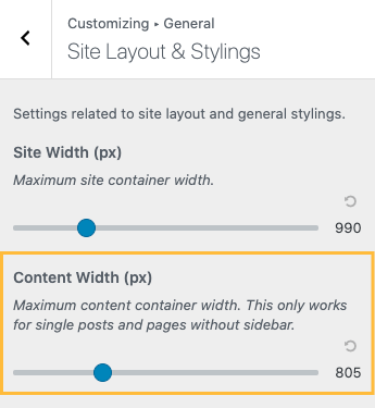 Layout Styling Content Width
