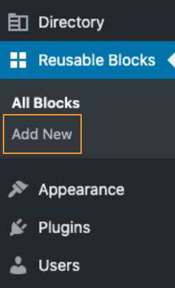 Add new reusable block