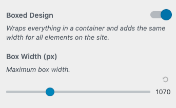 boxed design